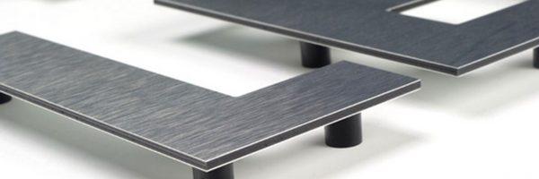 Letras Corpóreas Aluminio Composite