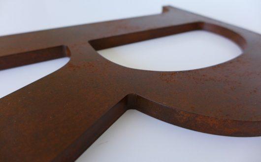 Letras Corpóreas PVC - Acabados especiales - Acero Corten
