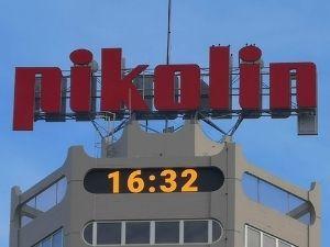 Rotulo de gran formato en la Torre Pikolin en Zaragoza